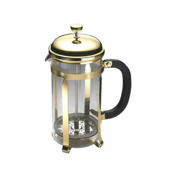 Zaparzacz do kawy 0,35l Grunwerg French Press Classic Gold złoty