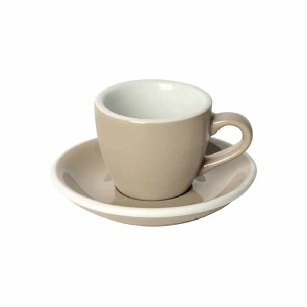Filiżanka i spodek Espresso 80 ml Loveramics Egg taupe