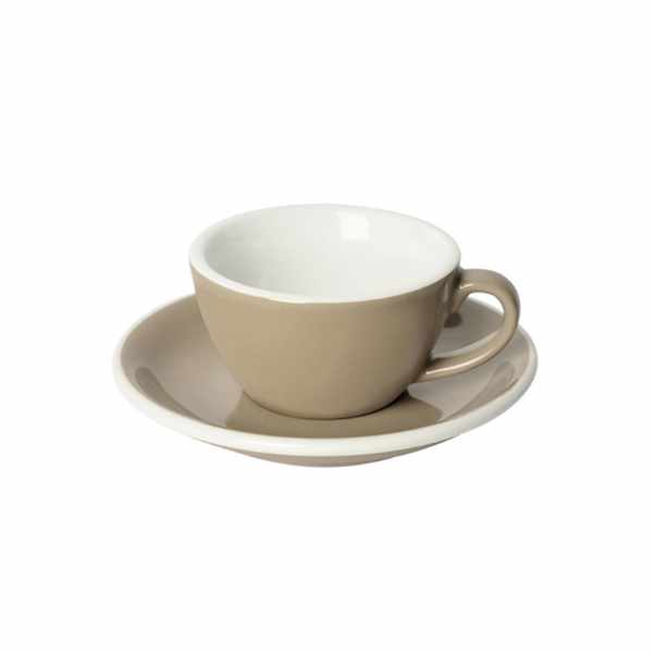 Filiżanka i spodek Flat White 150 ml Loveramics Egg taupe
