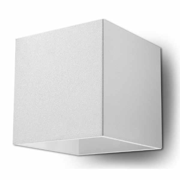 Kinkiet 10x12cm Sollux Lighting Quad Biały