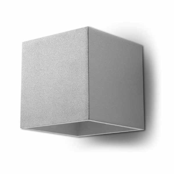 Kinkiet 10x12cm Sollux Lighting Quad szary