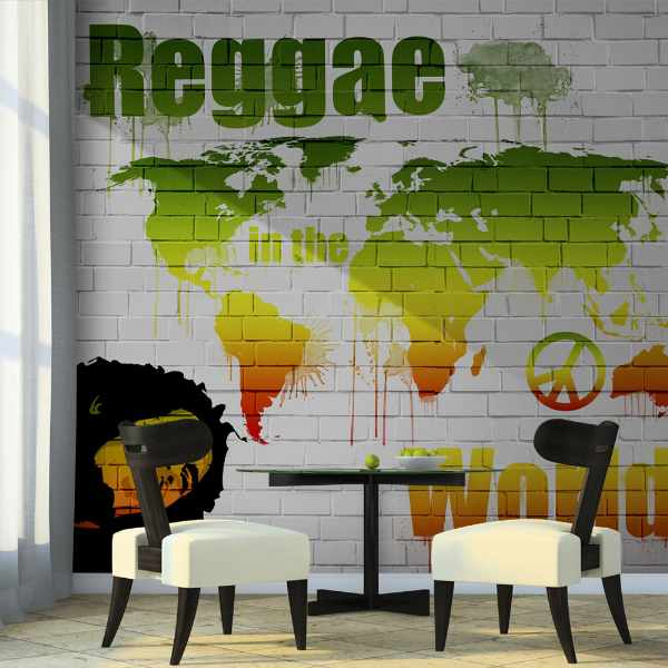 Fototapeta - Reggae in the world (200x154 cm)