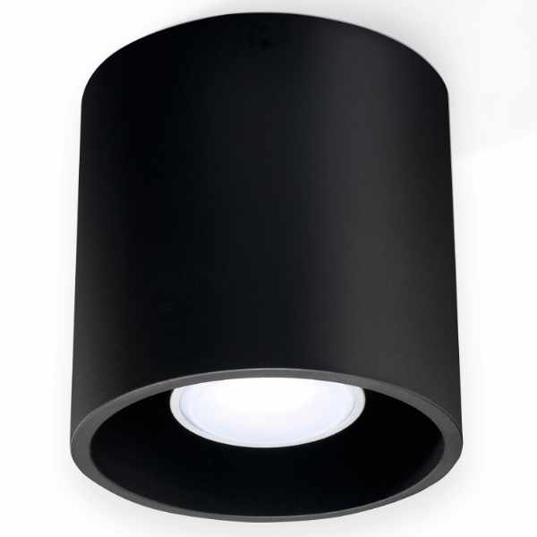 Plafon 10x10cm Sollux Lighting Orbis czarny