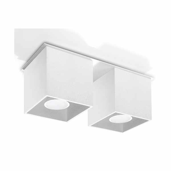 Plafon 26x10cm Sollux Lighting Quad 2 Biały
